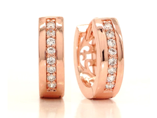 Rose gold small hoop earrings MAIN