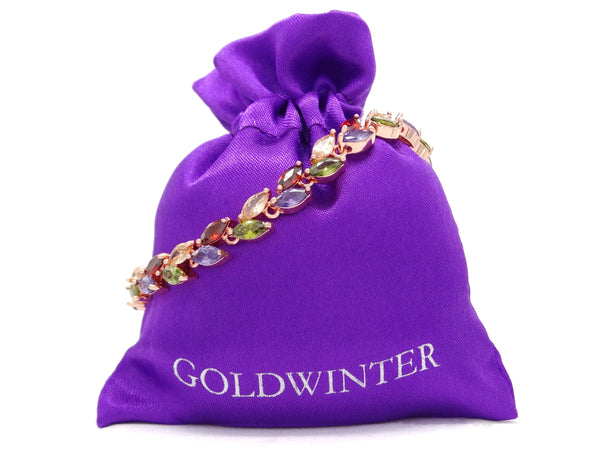 Different colored marquise rose gold bracelet GIFT BAG