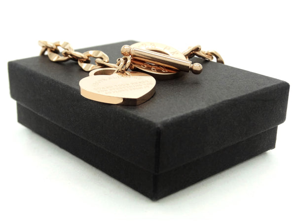 Rose gold proverbs 4:23 bracelet GIFT BOX
