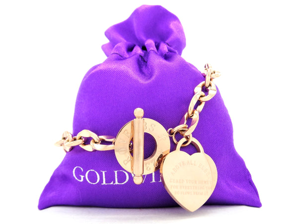 Rose gold proverbs 4:23 bracelet GIFT BAG