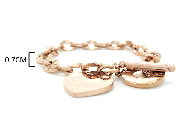 Rose gold proverbs 4:23 bracelet MEASUREMENT
