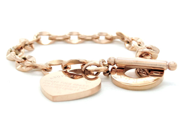 Rose gold proverbs 4:23 bracelet MAIN