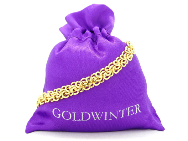 Yellow gold interweaving chain bracelet GIFT BAG