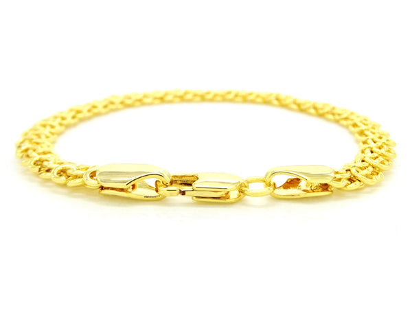 Yellow gold interweaving chain bracelet BACK