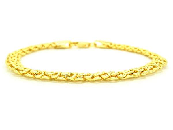 Yellow gold interweaving chain bracelet MAIN