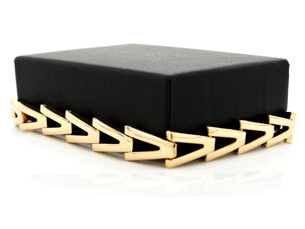 Yellow gold triangle link bracelet GIFT BOX