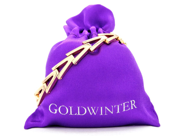 Yellow gold triangle link bracelet GIFT BAG
