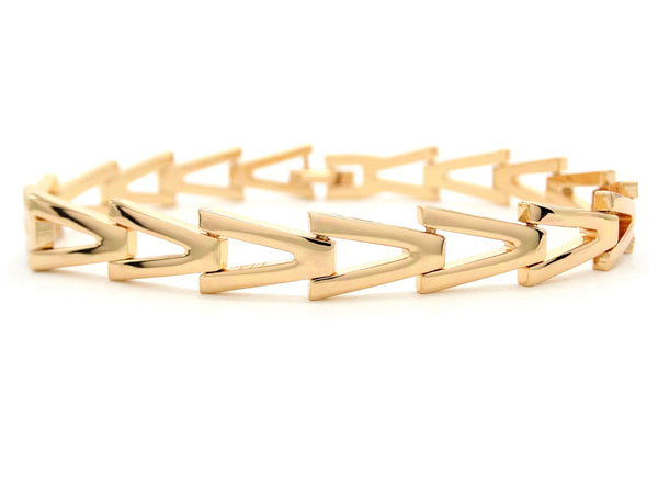 Yellow gold triangle link bracelet MAIN