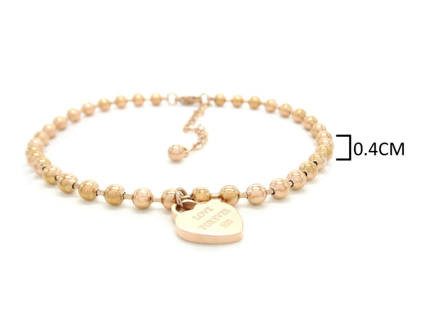 Rose gold love forever 520 bracelet MEASUREMENT