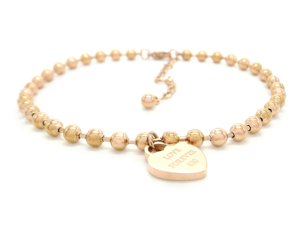 Rose gold love forever 520 bracelet MAIN