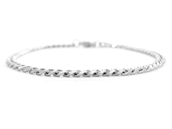 Sterling silver thin chain bracelet MAIN