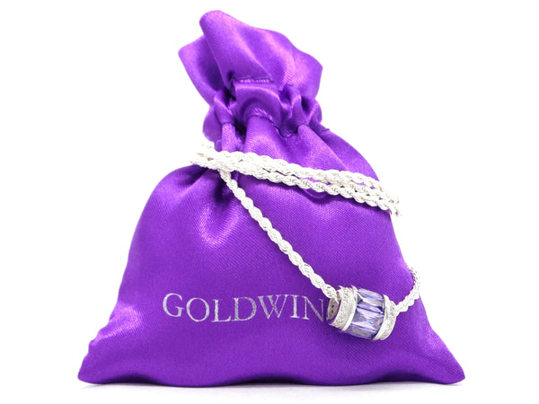 Sterling silver purple rope necklace GIFT BAG