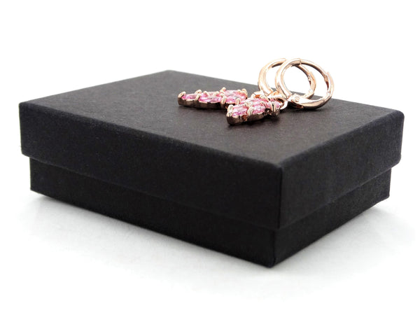 Rose gold pink leaf earrings GIFT BOX