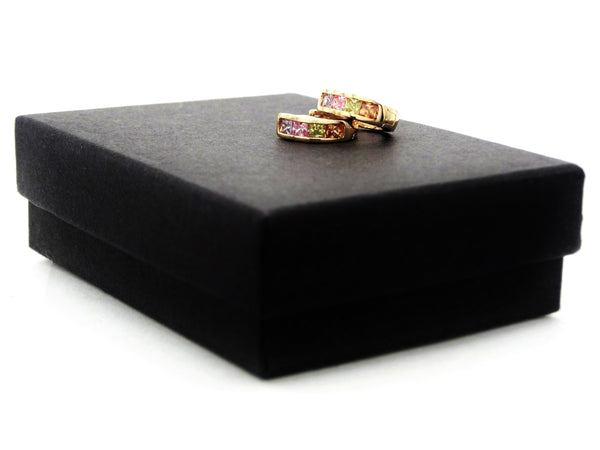 Small gold princess rainbow earrings GIFT BOX
