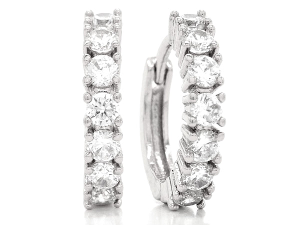 White gold hoop earrings MAIN