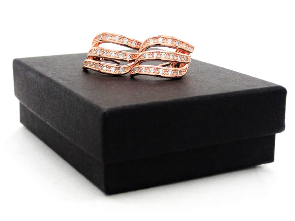 Rose gold lines stud earrings GIFT BOX