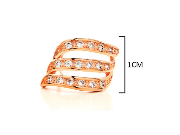 Rose gold lines stud earrings MEASUREMENT