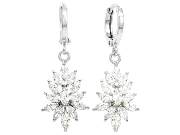 Sterling silver chandelier marquise earrings MAIN