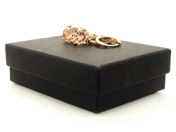 Champagne gem gold earrings GIFT BOX