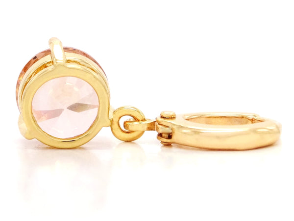 Champagne gem gold earrings BACK