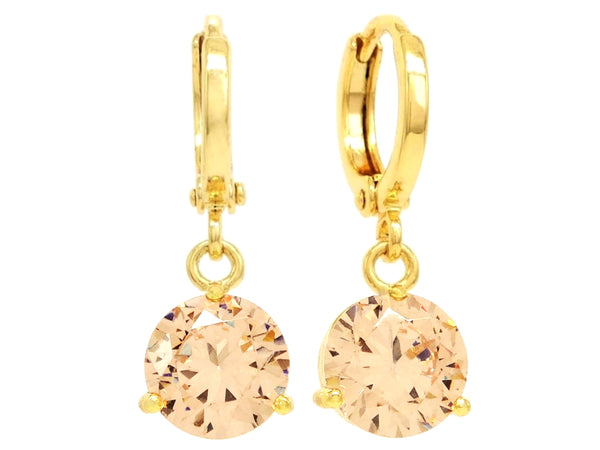 Champagne gem gold earrings MAIN