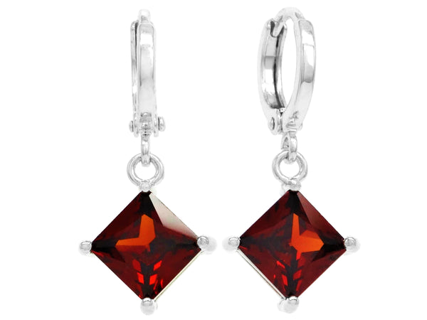 Red princess white gold earrings MAIN