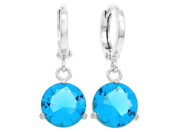 Blue gem white gold earrings MAIN
