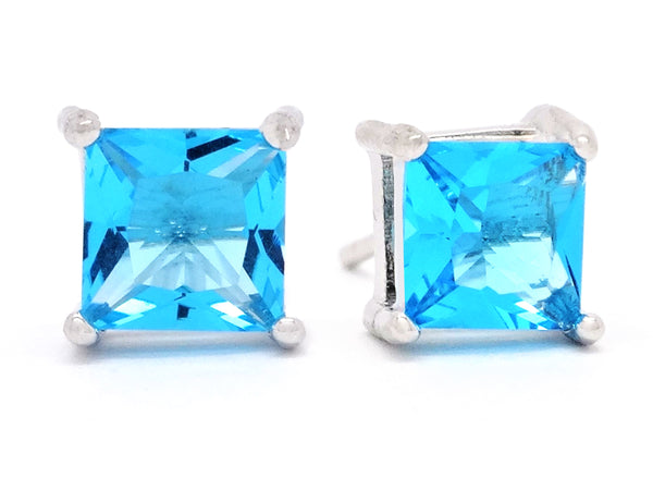 Blue princess stud earrings MAIN