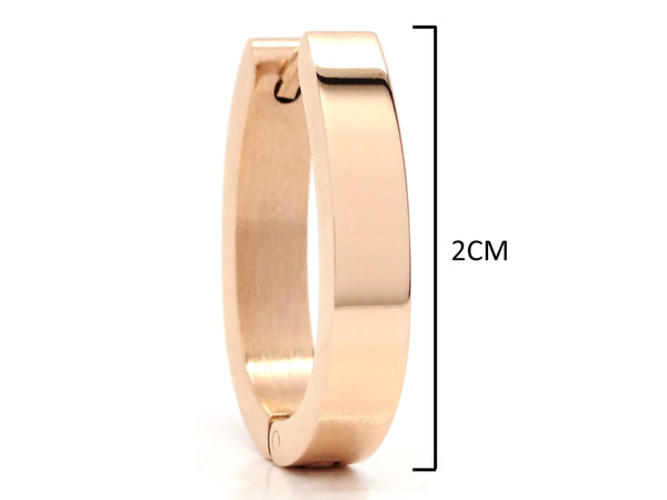 Rose gold plain big hoop earrings MEASUREMENT