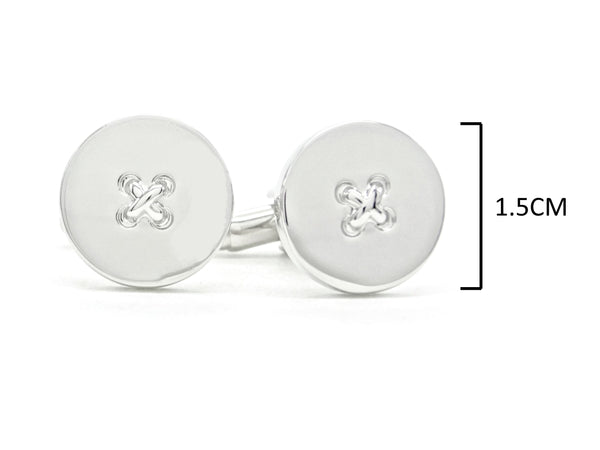Sterling silver button cufflinks MEASUREMENT