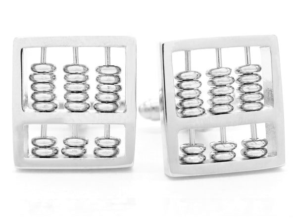 Sterling silver abacus cufflinks MAIN
