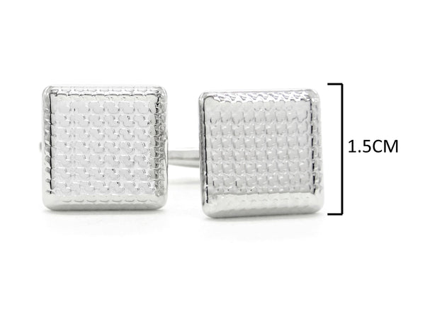 Sterling silver square cufflinks MEASUREMENT