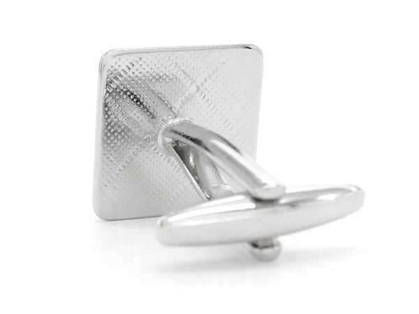 Sterling silver square cufflinks BACK