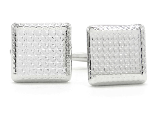 Sterling silver square cufflinks MAIN