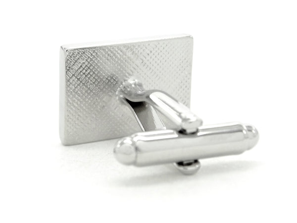 Sterling silver piano keyboard cufflinks BACK