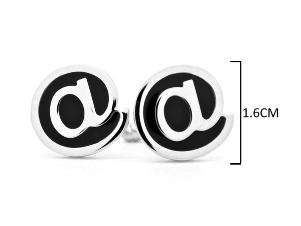 Sterling silver email @ cufflinks MEASUREMENT
