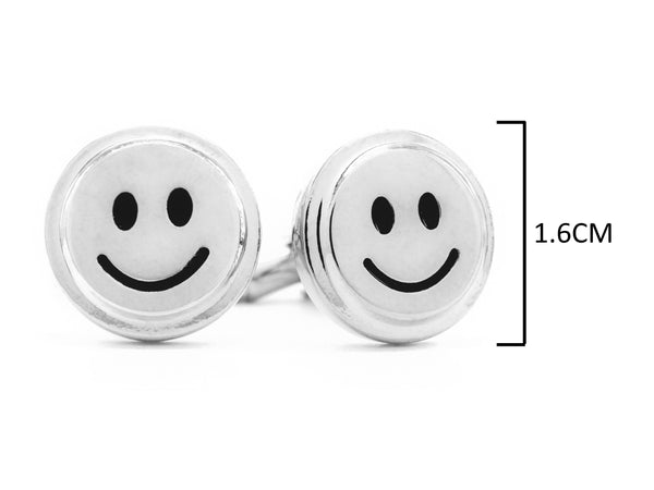 Sterling silver smiley face cufflinks MEASUREMENT