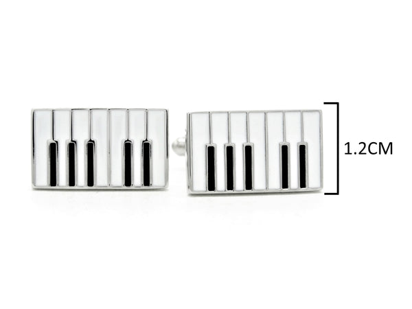 Sterling silver piano keyboard cufflinks MEASUREMENT