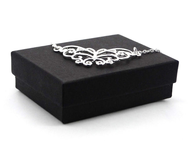 Silver butterfly choker necklace GIFT BOX
