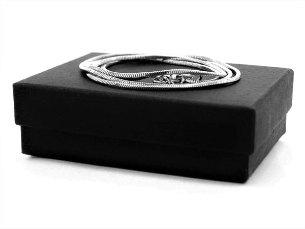 Sterling silver classic snake necklace GIFT BOX
