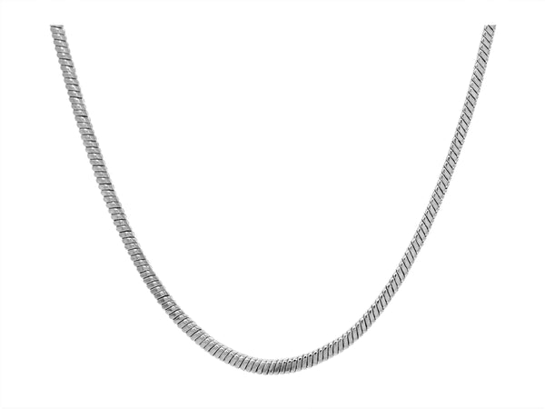 Sterling silver classic snake necklace MAIN