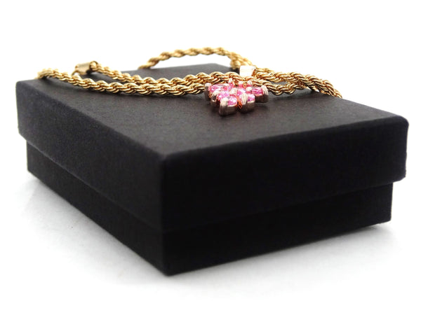 Pink leaf gold necklace GIFT BOX