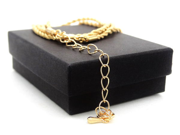 Gold thin rope necklace GIFT BOX