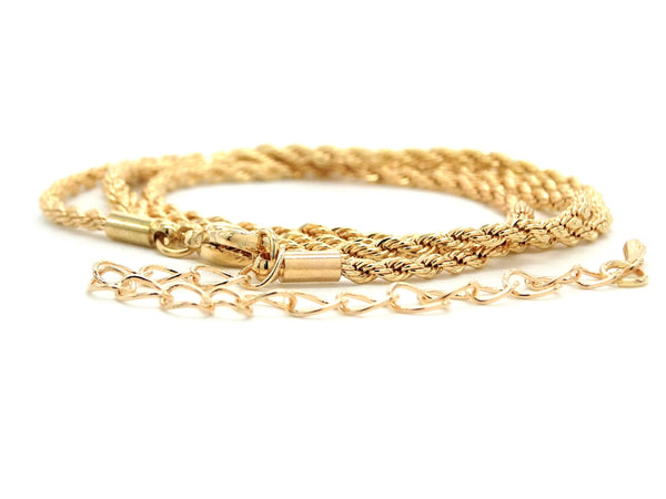 Gold thin rope necklace DISPLAY