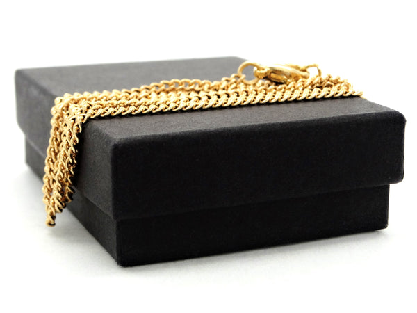 Black moonstone raindrop yellow gold necklace GIFT BOX