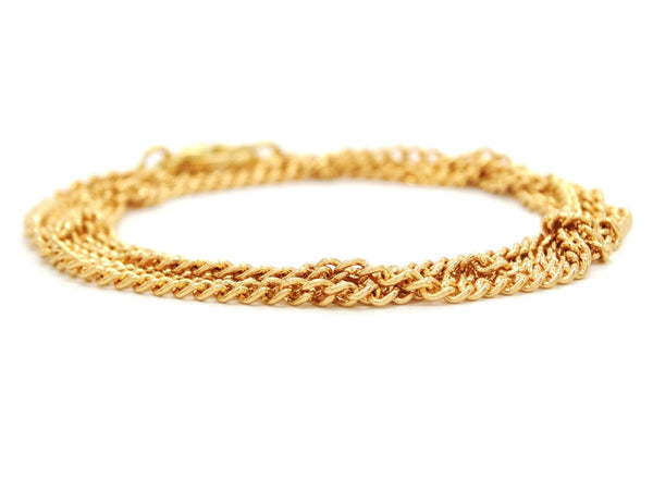 Yellow gold thin chain bracelet DISPLAY