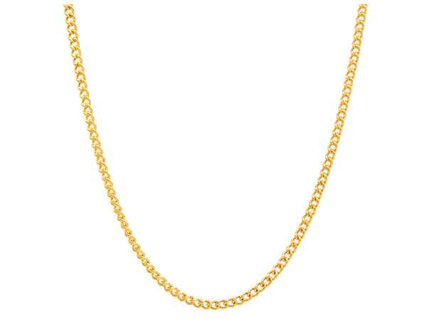 Gold thin chain necklace MAIN