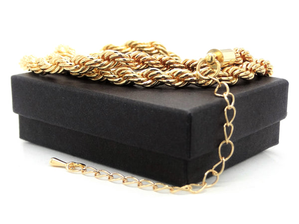 Gold thick rope necklace GIFT BOX