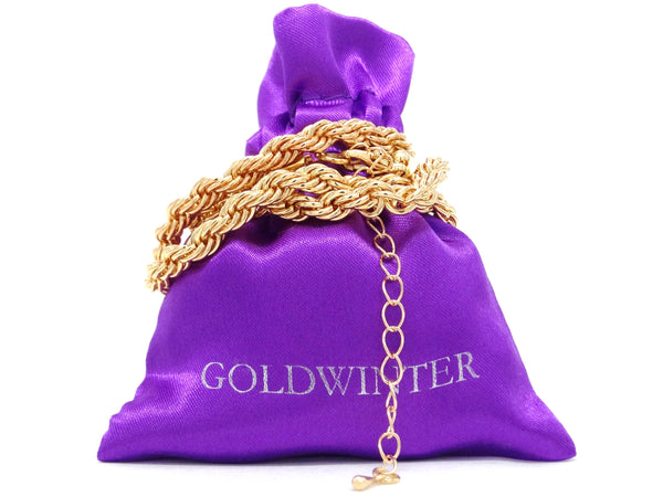 Gold thick rope necklace GIFT BAG