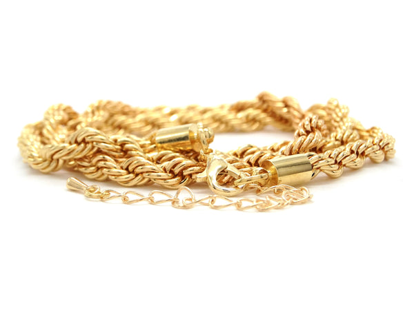 Gold thick rope necklace DISPLAY
